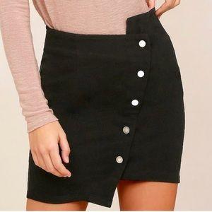 Lulus NWT asymmetrical skirt